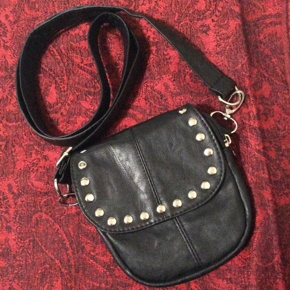55abf7de47 Hipzbag Faux Leather Studded Small Crossbody Purse